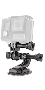 Paste Curved-Surface with Swivel Bearing Motorcycle Helmet Chin Mount