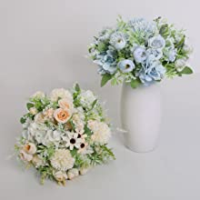 silk blue flowers artificial white flowers arrangements