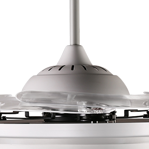 H&Fun 112CM Aspas retráctiles de Ventilador de Techo Moderno Blanco con Luces LED Regulables, Control Remoto, Ventilador de decoración de Motor silencioso para (Blanco): Amazon.es: Hogar