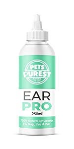 dog cat horse rabbit ear itching mites fungal bacteria yeast infection clean cleanse remove dirt