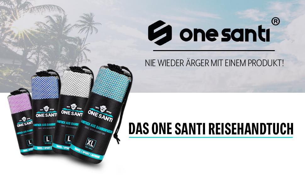 Asciugamano da viaggio ad asciugatura rapida e compatto Asciugamano da viaggio per viaggi ONE SANTI Asciugamano da viaggio I nostri asciugamani in bamb/ù come top da esterno