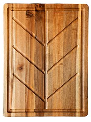 Large Wood Cutting Board with Drip Edge