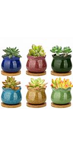 ice cracked pots