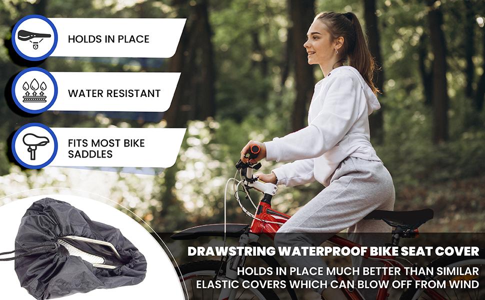 Bicycle Seat Cover Waterproof Saddle Bicycle Rain Proof Dustproof Gift D8X1