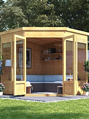 Pressure Treated Floor and Roof Included 7x7 BillyOh Picton Corner Summerhouse Available Pressure Treated 7x7 Tongue /& Groove Garden Building