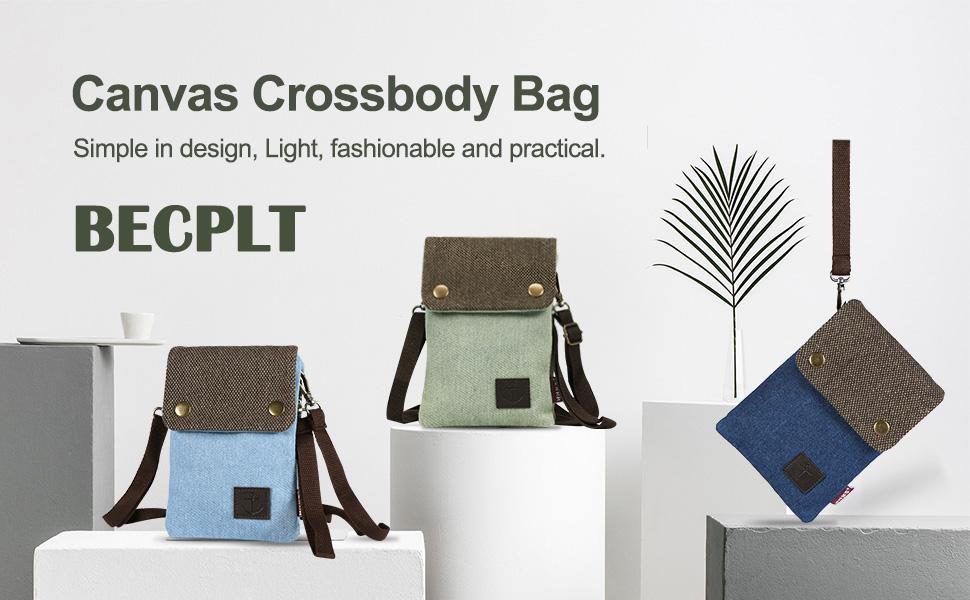 BECPLT canvas crossbody bag