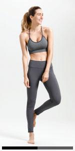 grey women yoga pants