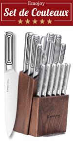 set de couteaux professionnels