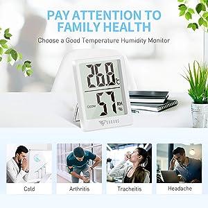 Mini Termómetro Higrómetro Digital
