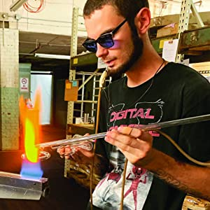 neon glass bender, neon glass tubing, hand bent neon tubing