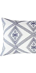 navy lumbar pillow covers