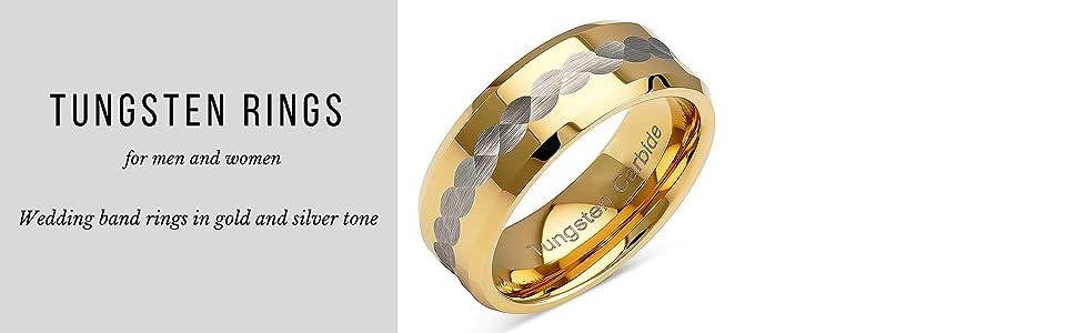 gold tungsten ring