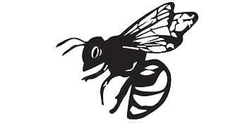 Cute black bee logo