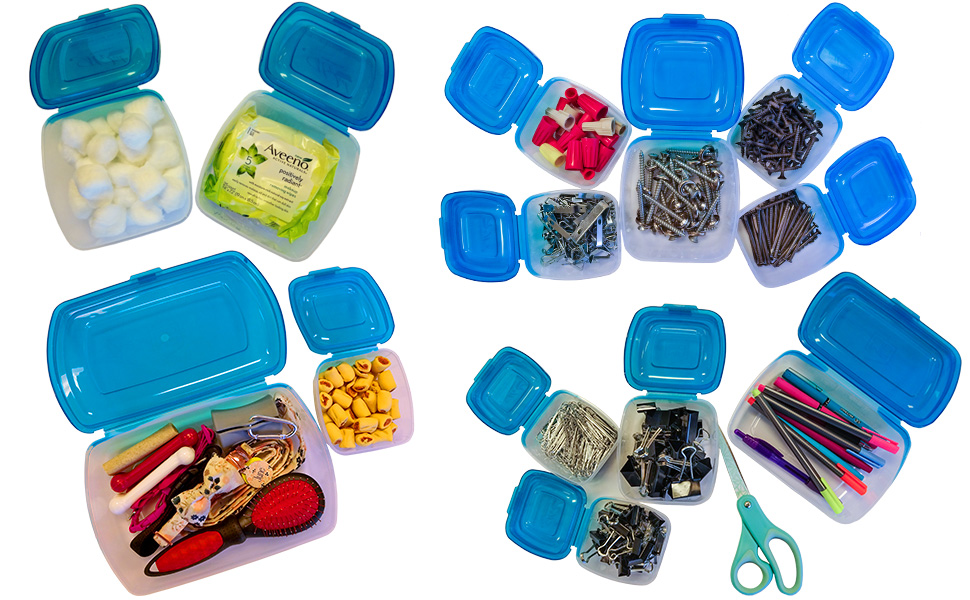 Lid 10 Piece Attached Lid Clear Plastic Container Set As Seen On TV BPA Free Mr