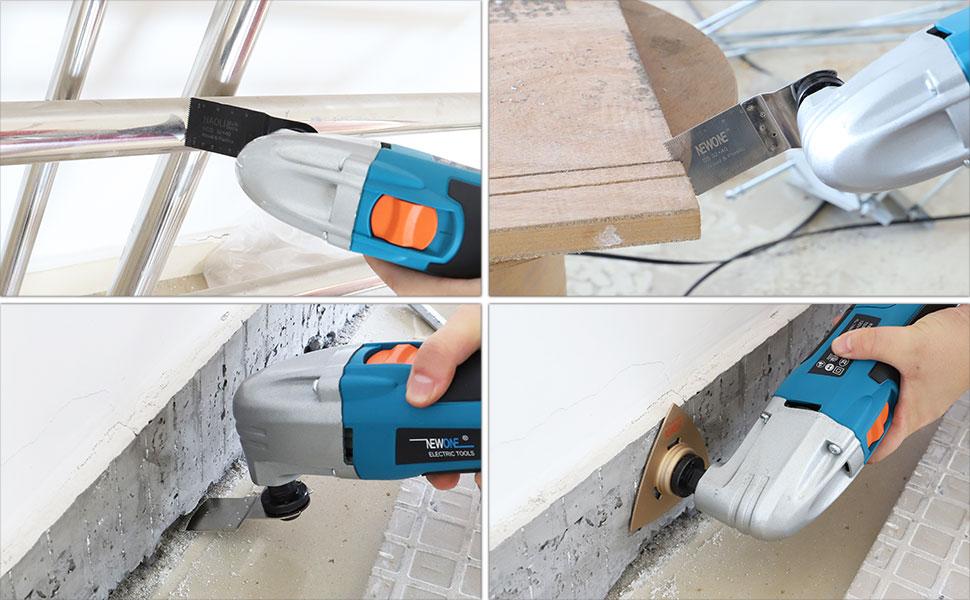 Hoja de sierra oscilante 68 piezas Juego de hojas de sierra oscilantes para herramientas m/últiples para Bosch Stanley Multimaster Makita Dremel Fein Bosch