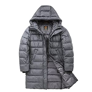 TIGER FORCE long winter coat for men puffer jacket thick