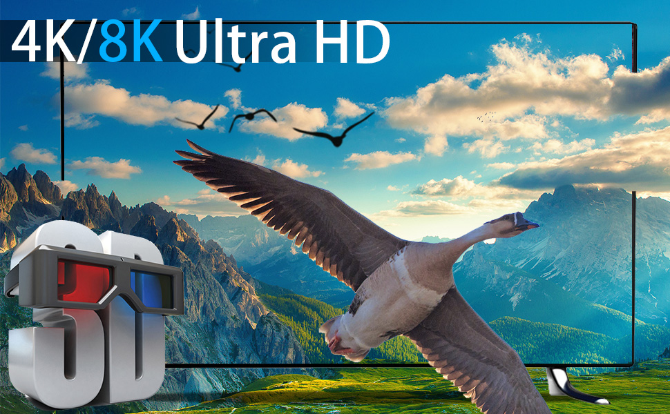 Support 3D Movies and 4K/8K Ultra HD