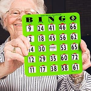 large bingo cards with sliding windows