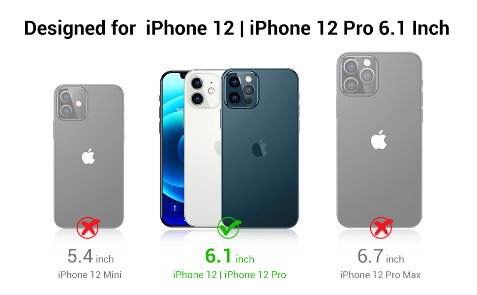 Compatible with iPhone 12 as well as iPhone 12 Pro