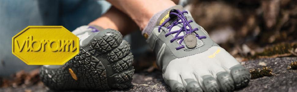 Vibram FiveFingers Trek Ascent Womens Trail Running Shoes Grey