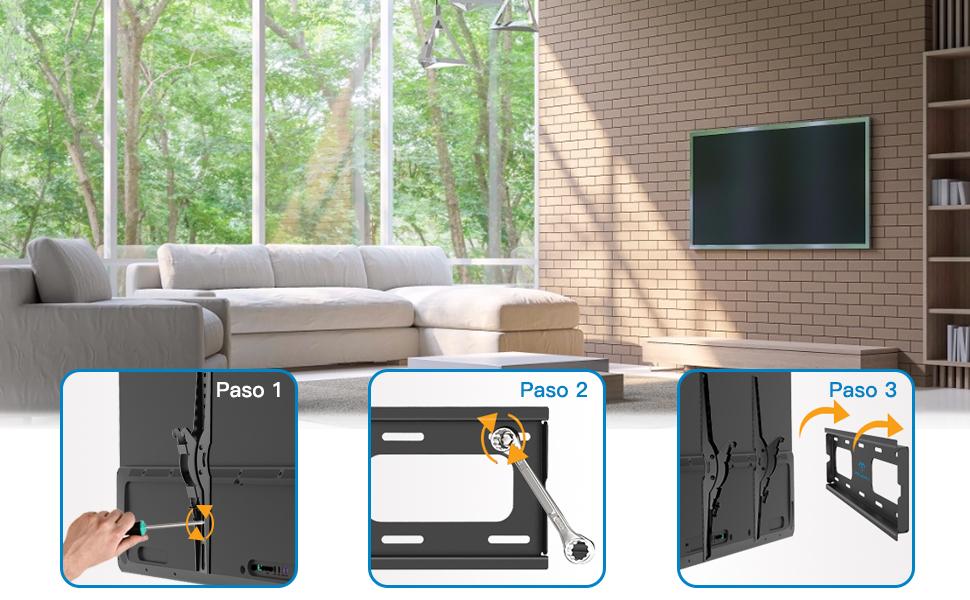 Soporte TV de Pared Articulado Inclinable, Soporte de Pared TV para Pantallas de 26-55 Pulgadas LCD OLED, Soportar 60 kg, VESA Máxima de 400x400mm: Amazon.es: Electrónica