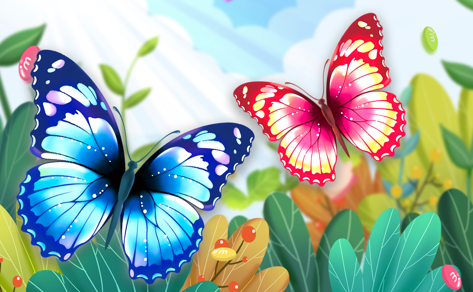 Blue Mints Colorful Life Butterfly Kite