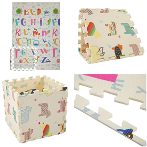 Waterproof Puzzle Double-Sided Animal Aceshin Baby Play Mat Thick Foam Crawling Playmat for Kids Infants 6 ft x 4 ft Soft Non-Toxic