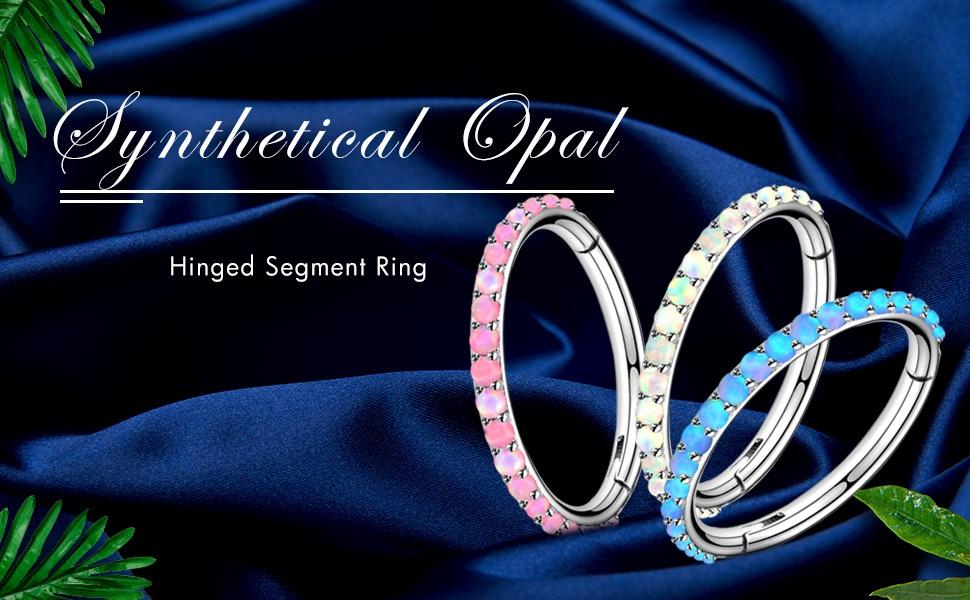 opal hinged Segment hoop