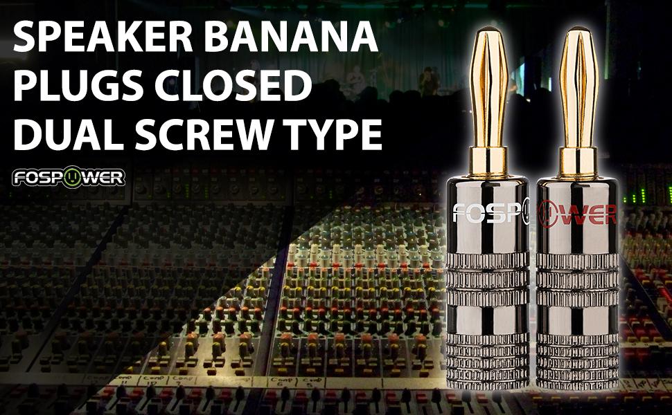 banana plugs closed screw type