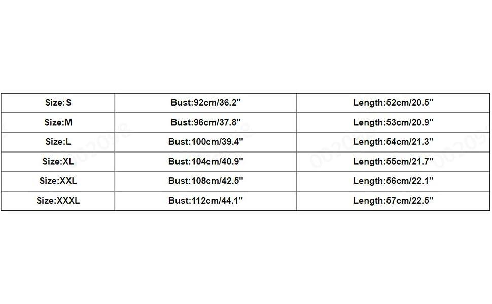 Size Chart: