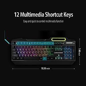 rgb led backlit gaming keyboard