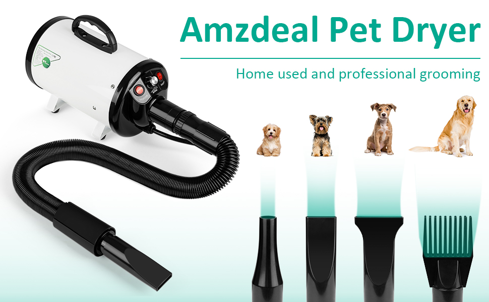 amzdeal pet hair dryer for small and big dogs