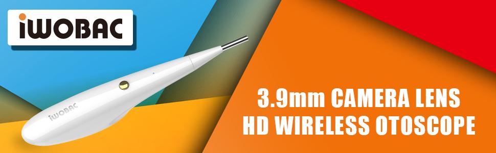 iwobac 3.9mm wireless otoscope