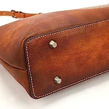 vintage leather handbag for women