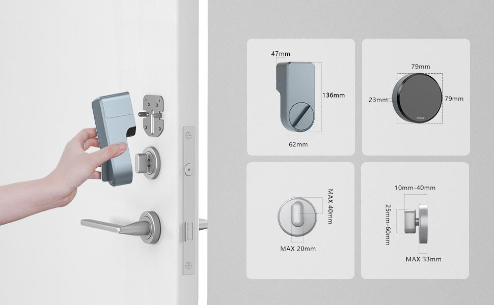 smart lock size