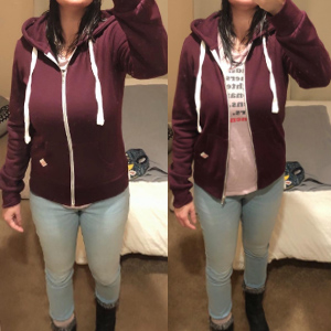 womens hooded sweatshirt zip up