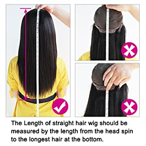 Measure your Lace Front Wigs