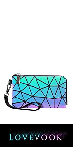 Geometric Luminous Wallet Purses
