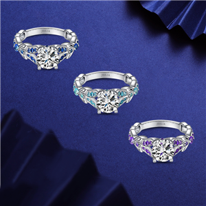 Jeulia Women Wedding Ring Set 925 Silver rings Anniversary promise Rings