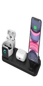 01 New Wireless Charger 4in1 Compatible with Apple Watch amp; AirPods 2 amp; Pencil Charging Dock Station