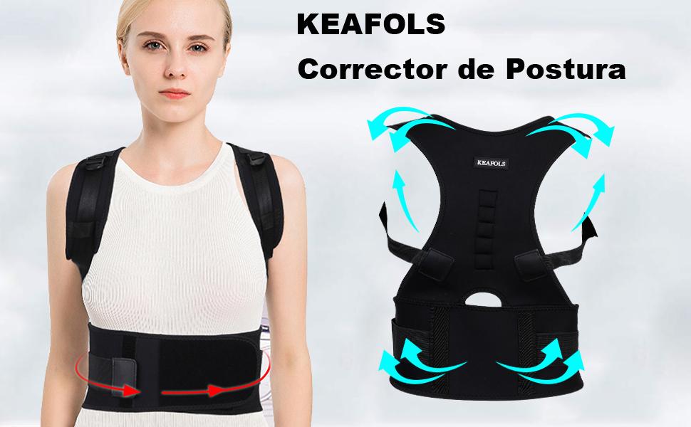 KEAFOLS Corrector de Postura Corrector Postura Lumbar Corrector de ...