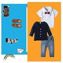 Little Boys Long Sleeve Gentleman Outfit Suits Set