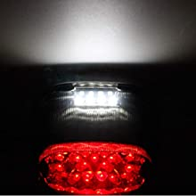 Harley Smoked LED taillights license plate light