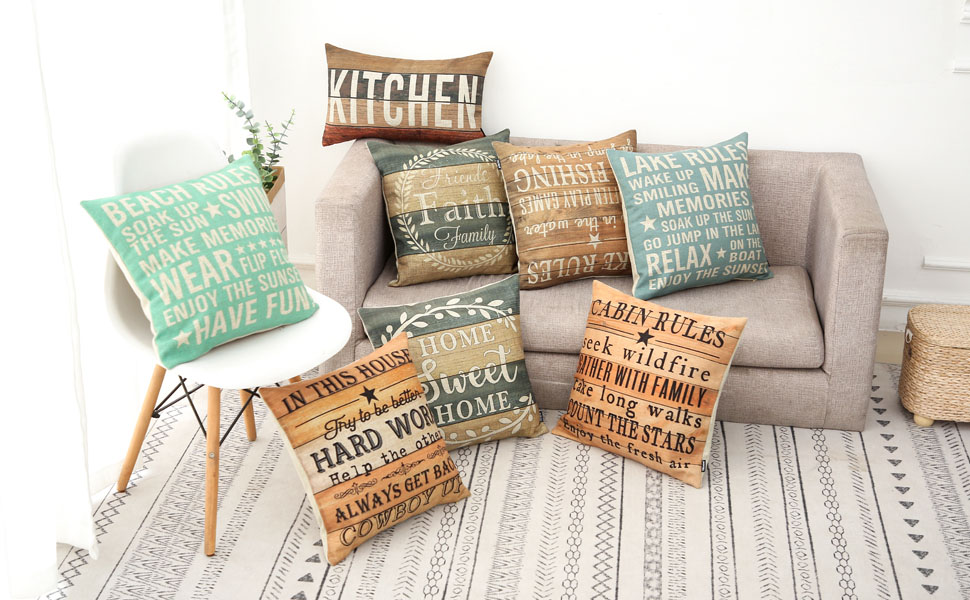 trendin vintage country pillow cover