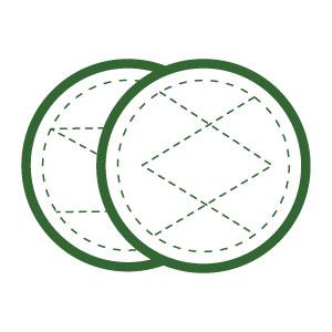 Discos Desmaquillantes   16 Discos Desmaquillantes Reutilizables   Con Bolsa de Lavado   Hechos en Fibra de Bambú   Desmaquillante Facial   Lavables   ...