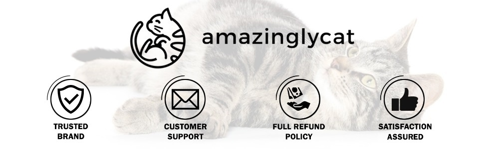 customer support trusted brand amazingly cat full refund policy satisfaction webpage