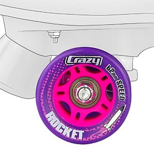 roller skate wheels wheel speed hub abec bearings indoor outdoor rink street smooth purple pink