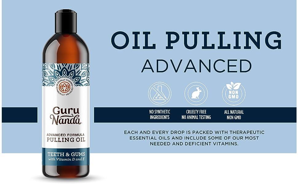Guru nanda advanced oil pulling no synthetics, no animal testing, non gmo, all natural mouth swish