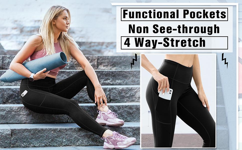 leggings with pockets women yoga pants gym leggings black leggings ladies leggings
