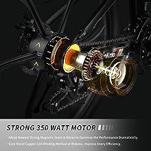 350W motor powerful